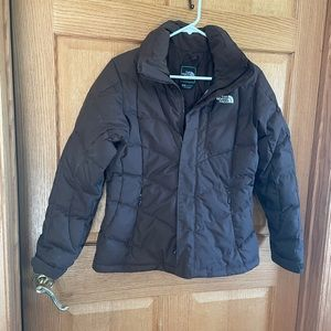 The North Face brown, goose Down coat